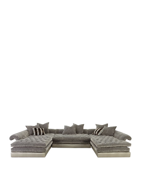 Old Hickory Tannery Galvin Sectional Left-Facing Chaise