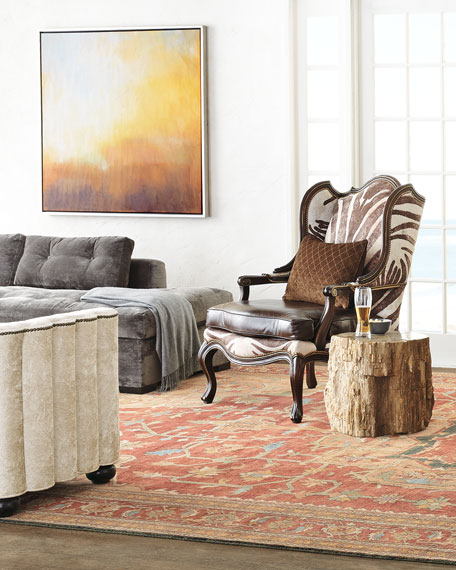 Captivating Bangor Petrified Wood Side Table