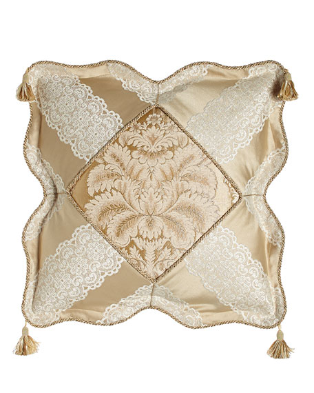 Sweet Dreams Meriemont Scalloped Pillow with Corner Tassels,