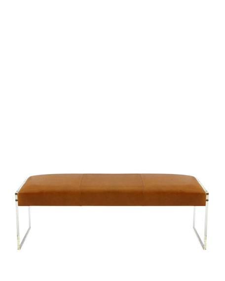 Wallis Leather Bench