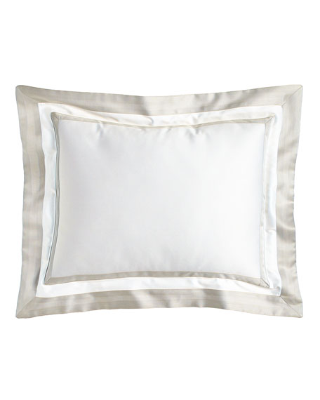 Annie Selke Luxe Piazza Pillow with Border, 12