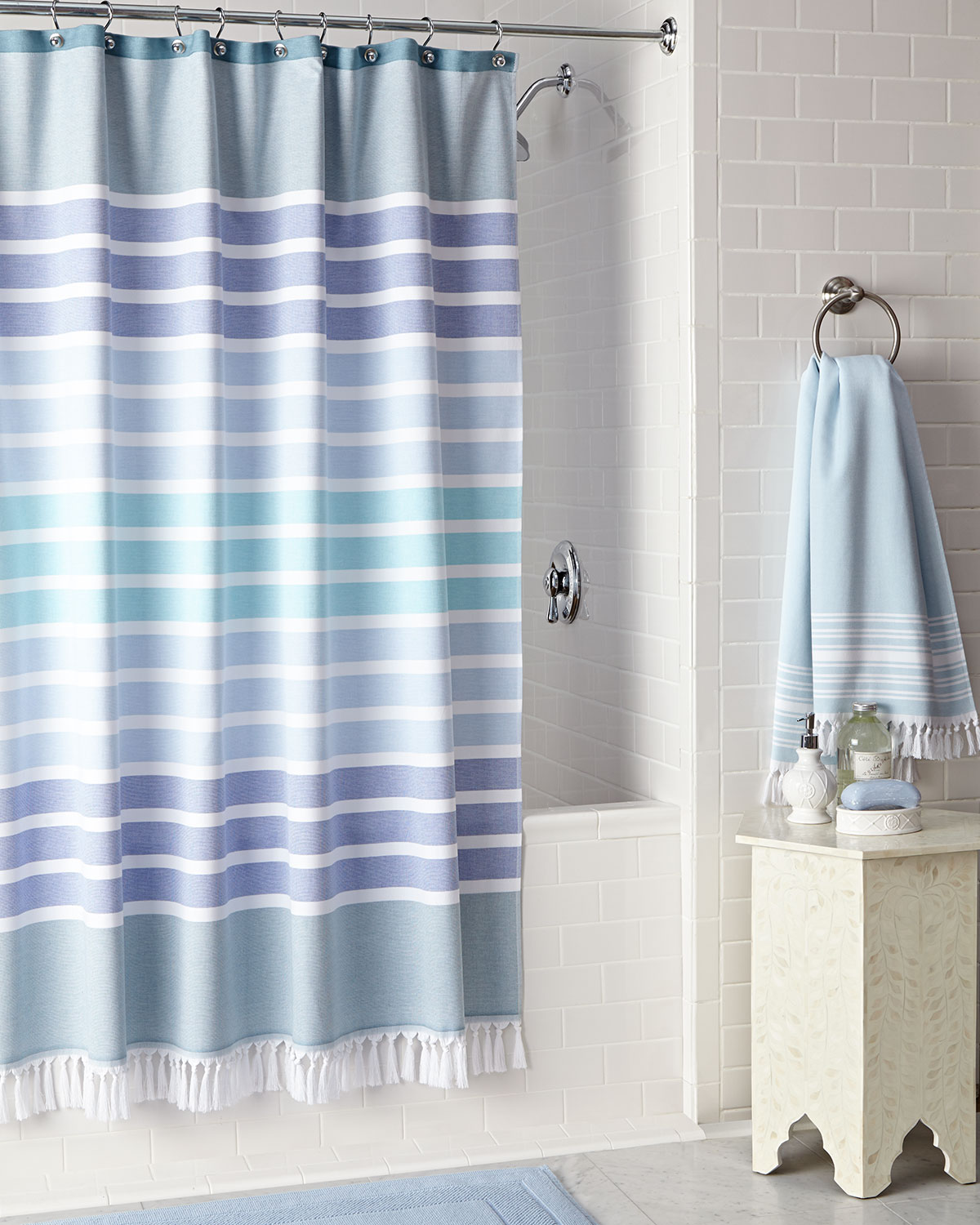 BODRUM SHOWER CURTAIN