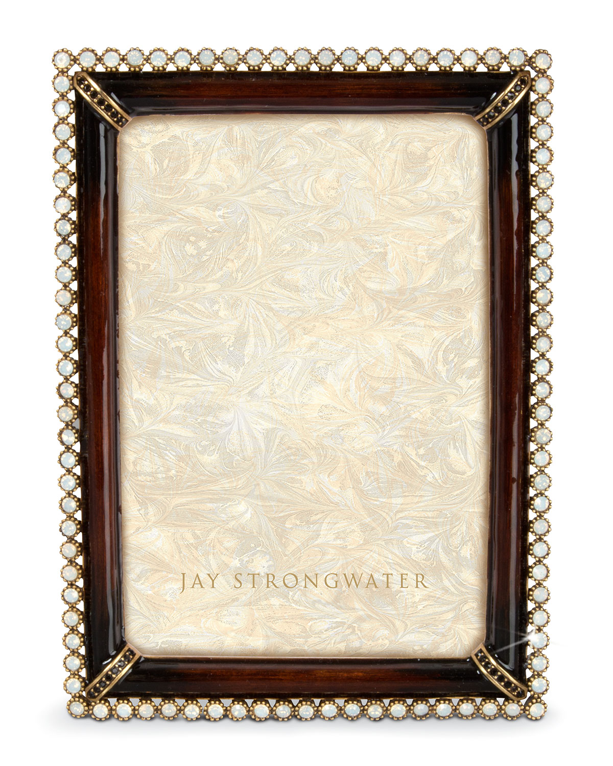 jay strongwater stone edge 4 x 6 picture frame neiman marcus. Black Bedroom Furniture Sets. Home Design Ideas