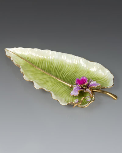 Leaf and Orchid Tray