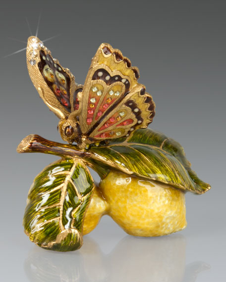 Jay Strongwater Darcy Butterfly on Lemons Objet