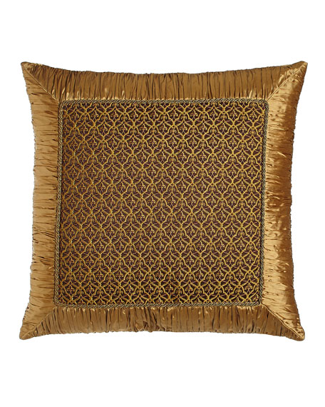 Dian Austin Couture Home Royal Court European Trellis Sham with Ruched Border