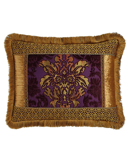 Dian Austin Couture Home Royal Court King Pieced Sham with Fringe