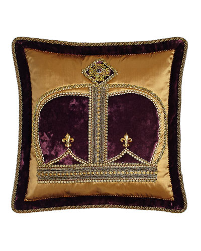 Royal Court Crown Pillow  18Sq.