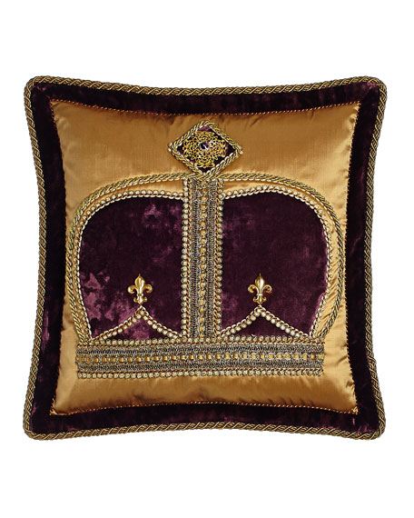 Dian Austin Couture Home Royal Court Crown Pillow,