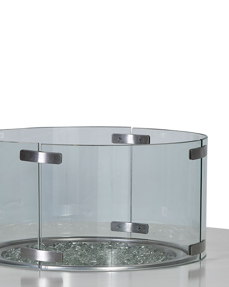 Lane Venture Glass Firepit Screen