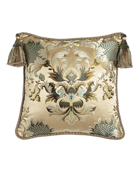 "Austin Horn Collection Rochelle Floral Pillow, 20""Sq."