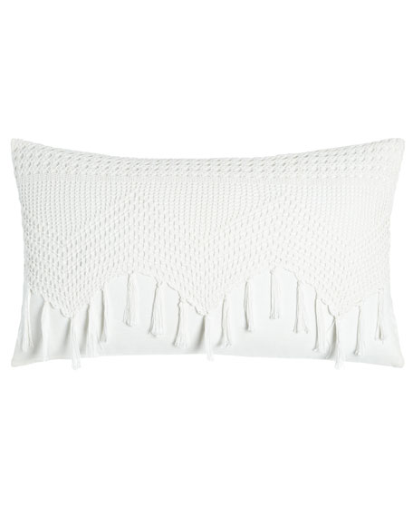 "Layla Vintage Crochet Pillow, 24"" x 14"""