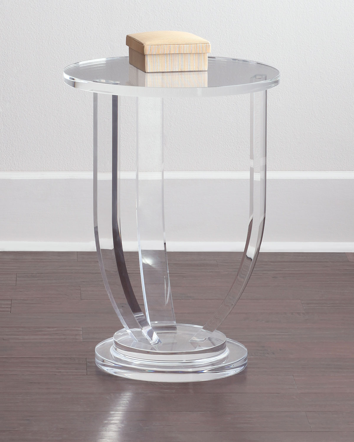 Interlude Home Bayberry Acrylic Side Table