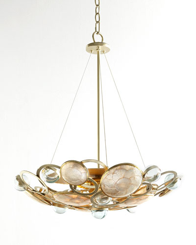 Glass Bubble Three-Light Chandelier