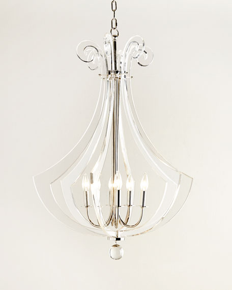 Regina Andrew Design Acrylic Silhouette Six-Light Chandelier