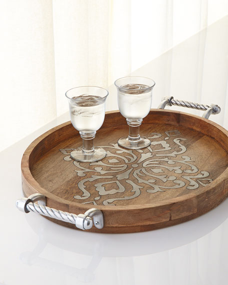G G Collection Heritage Large Oval Tray