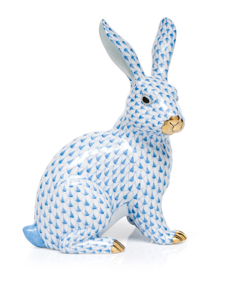 Large Sitting Bunny Figurine