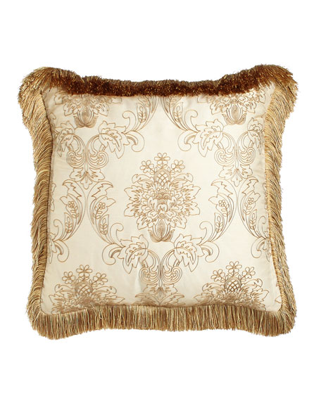 Isabella Collection Catania Pillow with Embroidered Sheer