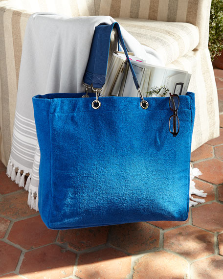 Cotton terry beach tote