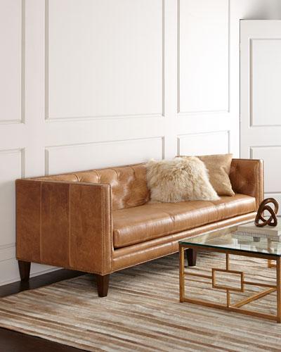 Brock Leather Sofa 90