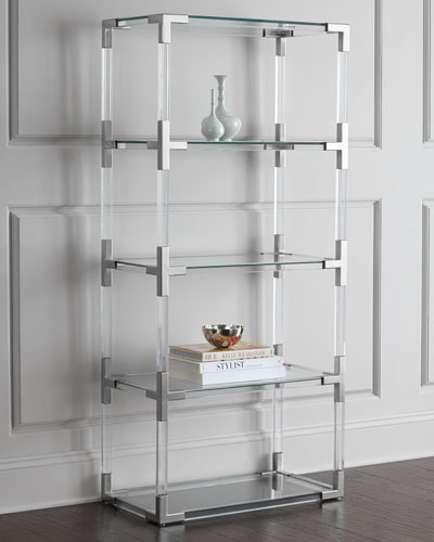 Jacques Lucite & Nickel Etagere