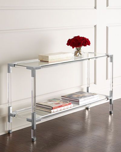 Jacques Lucite & Nickel Console