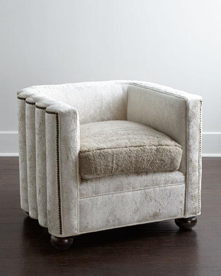 Old Hickory Tannery Myra Velvet Wave Chair
