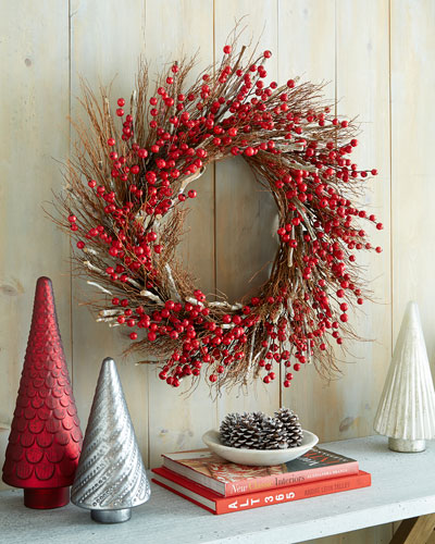 "Aspen Fantasy 34"" Christmas Wreath"
