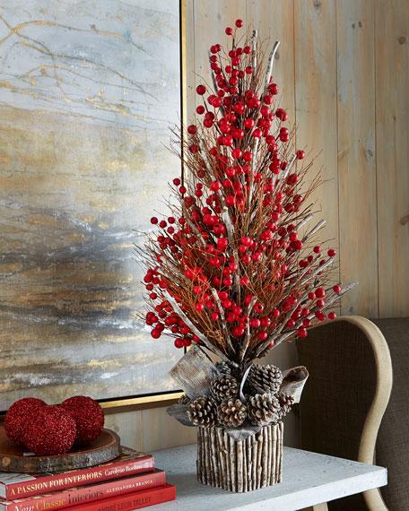 Simple Christmas Decorations Ideas: Winter Fantasy Tabletop Tree