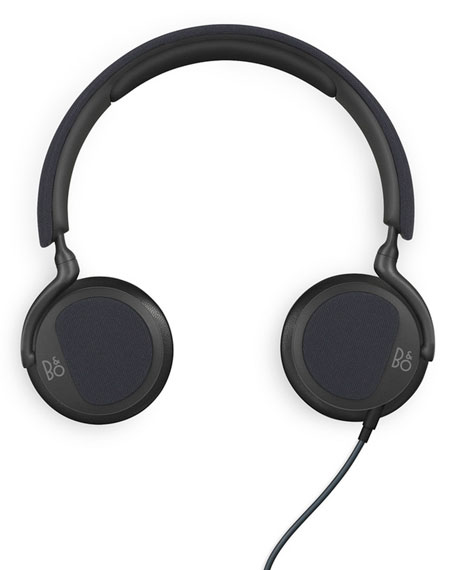 H2 Black/Blue Over-Ear Headphones