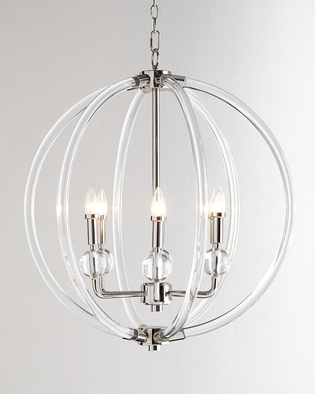 Neiman marcus lighting Pendant Light Neiman Marcus Acrylic Silver 6light Pendant Neiman Marcus