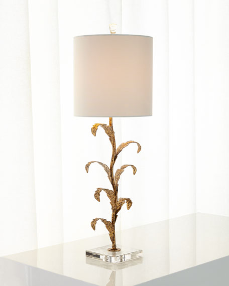 Neimanmarcus Golden Leaves Buffet Lamp