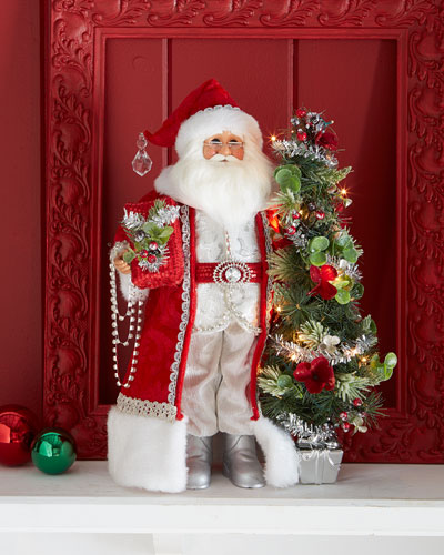 Arcadian Christmas Lighted Santa Figure