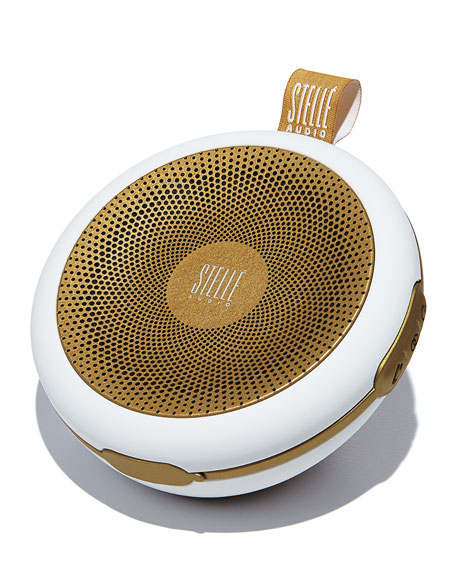White/Gold Go-Go Wireless Speaker