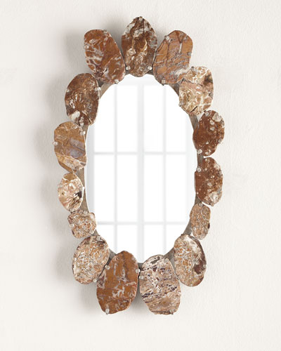 Agate Oval Mirror