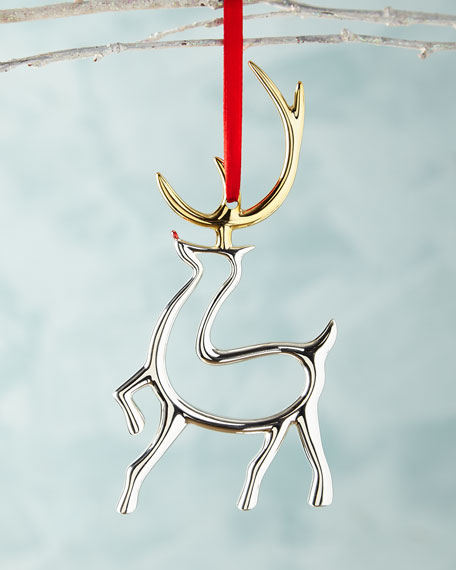 Nambe Reindeer Christmas Ornament