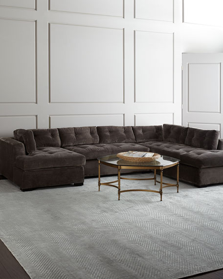 """McLain Gray 3-Piece Right-Side Chaise Sectional 136.5"""""""