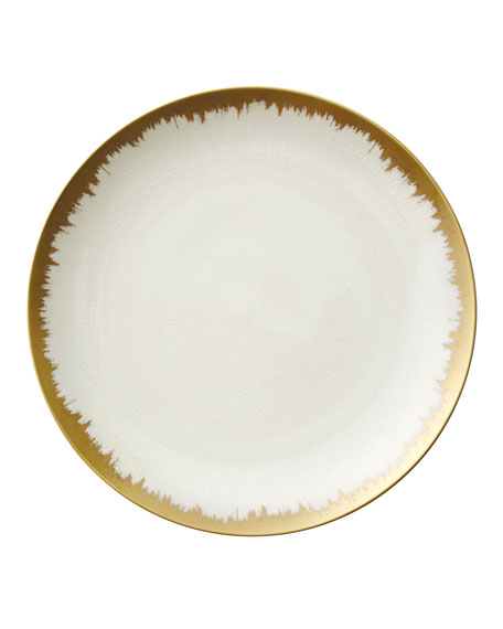 Opal Golden Brushstroke Dinner Plate