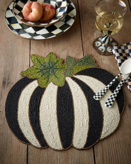 Autumn Harvest Beaded Flat Pumpkin
