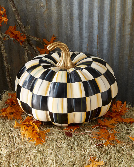 MacKenzie-Childs Courtly Check Great Squash Pumpkin