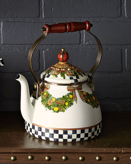 MacKenzie-Childs Evergreen 2-Quart Tea Kettle