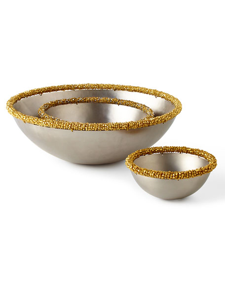 Beaded Bowls, 3-Piece Set