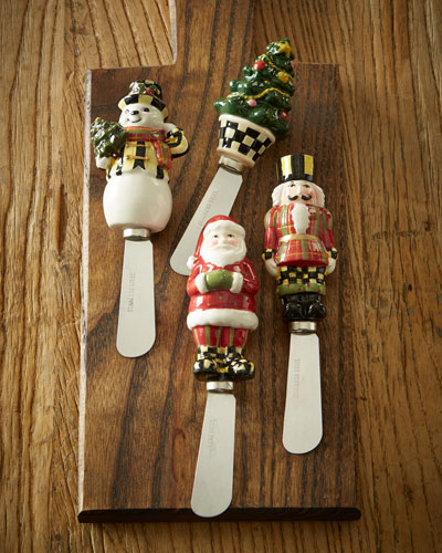 Holiday Spreaders, 4-Piece Set