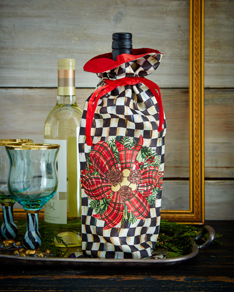 MacKenzie-Childs Evergreen Wine Bag