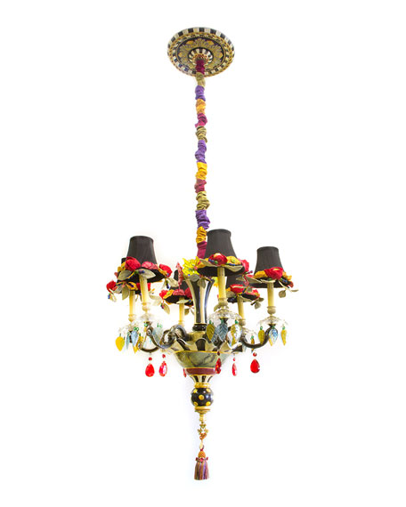 MacKenzie-Childs Dark Everlasting Small 6-Light Chandelier