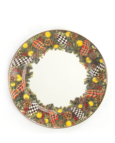 MacKenzie-Childs Evergreen Charger Plate