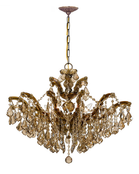 Golden Teak 6-Light Chandelier