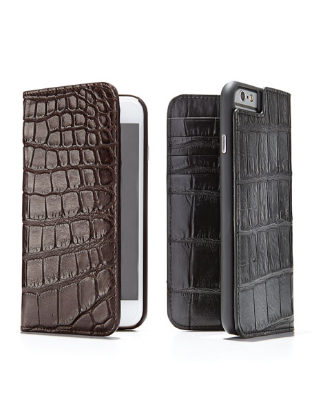 Brown Alligator iPhone 6 Wallet Folio