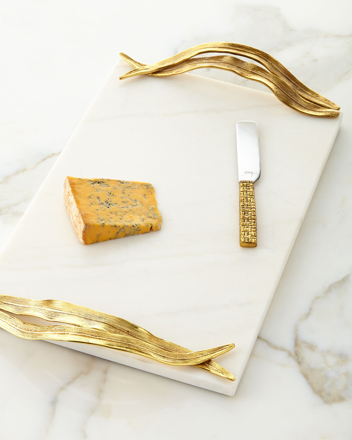 Michael Aram Palm Cheese Board With Knife Neiman Marcus