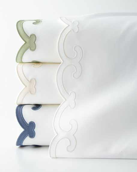 Two Queen 500TC Pillowcases with Scallop Trim